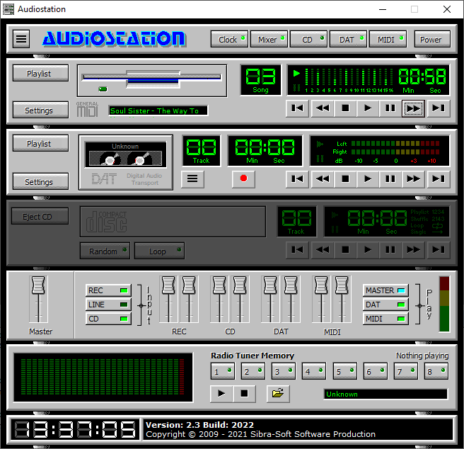 audiostation midi player